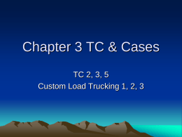 Chapter 3 TC & Cases - Northern Arizona University