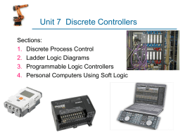 DISCRETE CONTROL USING PROGRAMMABLE LOGIC …