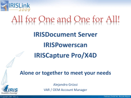 All for One and One for All! - I.R.I.S.