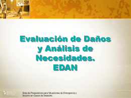 Los Eventos adversos - DISASTER info DESASTRES