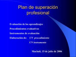 Procedimientos e Instrumentos