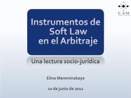 Instrumentos de Soft Law en el Arbitraje