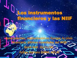Los Instrumentos Financieros y las NIIF