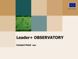 LEADER + OBSERVATORY - European Commission
