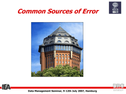 Common Sources of Error - Australian Council for