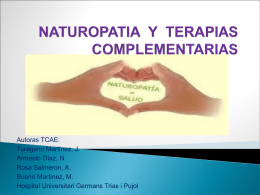 NATUROPATIA Y TERAPIAS COMPLEMENTARIAS