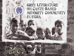 Grey Literature on Caste-based Minority Community in India