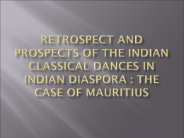 Retrospect and prospects of the Indian classical dances in