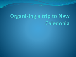 Organising a trip to New Caledonia