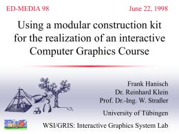 Hypermediales Lernen und Lehren von Computer