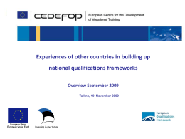 Introduction on Cedefop