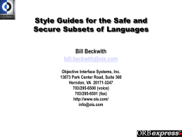 Style Guides for the Safe and Secure Subsets of Languages