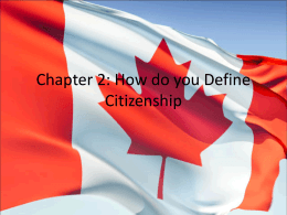 Chapter 2: How do you Define Citizenship