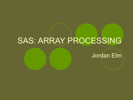 SAS: ARRAY PROCESSING