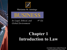 Jennings 7th Ed. Business