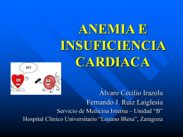 ANEMIA E INSUFICIENCIA CARDIACA