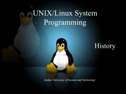 UNIX/LINUX System Programming