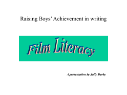 Raising Boys' Achievement in Writing