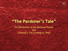 "The Pardoner's Tale"" Background Information"