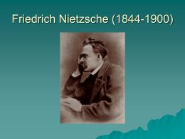 Friedrich Nietzsche (1844-1900) - IVCC