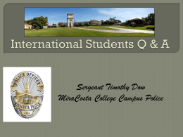Safety on Campus - MiraCosta College