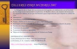TALLERES PARA MUJERES 2007