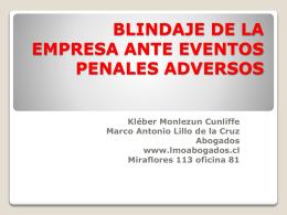 BLINDAJE DE LA EMPRESA ANTE EVENTOS PENALES …