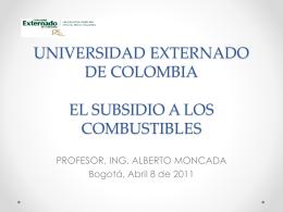 EL SUBSIDIO A LOS COMBUSTIBLES