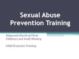 Sexual Abuse Training