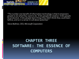 Chapter Two The Information Technology Manager