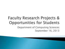 Faculty Research - Villanova University