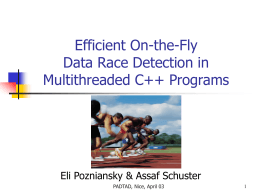 Efficient On-the-Fly Data Race Detection in C++