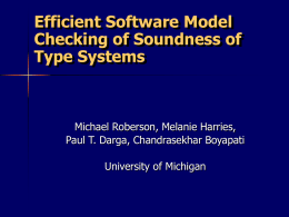 Model Checking Type SOundness