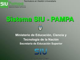 Sistema SIU - PAMPA 2000