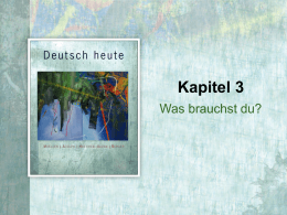 Was brauchst du? - Cengage Learning