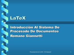 LaTeX