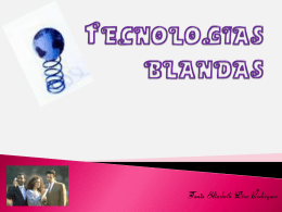 TECNOLOGIAS BLANDAS