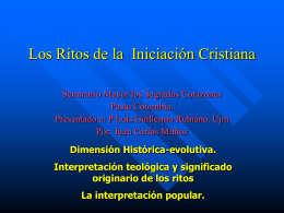 LOS RITOS DE LA INICIACION CRISTIANA.