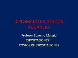 DIPLOMADO EN GESTION ADUANERA