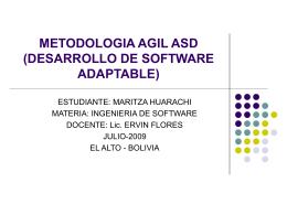 METODOLOGIA AGIL ASD (DESARROLLO DE SOFTWARE …