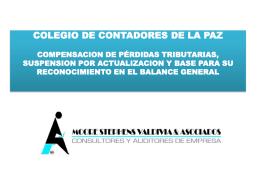 Diapositiva 1 - Colegio de Contadores de La Paz