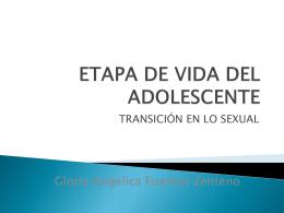 ETAPA DE VIDA DEL ADOLESCENTE