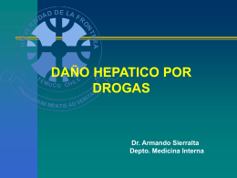 HEPATITIS POR DROGAS Factores modificadores fase I y II