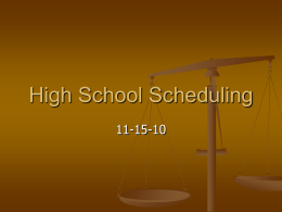 High School Scheduling Options