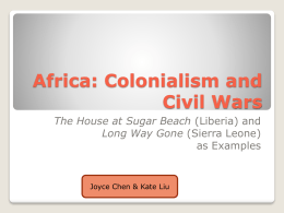 Africa: Colonialism and Civil Wars