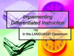 Preschool PowerPoint - LANGUAGE! Intensive Reading