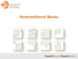 Nontraditional Marks - International Trademark Association