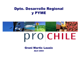 MARKETING DE CHILE EN EL MUNDO EUROPEO