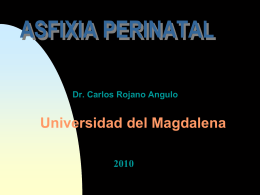 ASFIXIA PERINATAL - PEDIATRIA