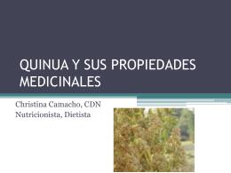 QUINUA Y SUS PROPIEDADES MEDICINALES